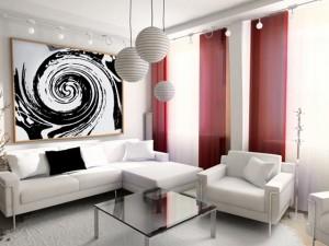camera alb rosu