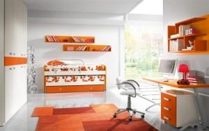 camera copii portocaliu