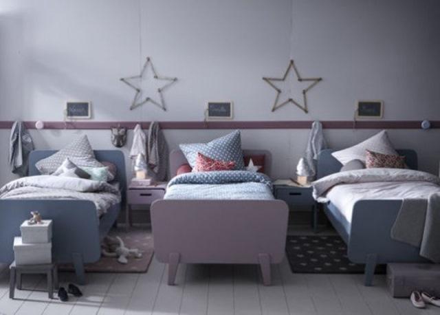 camera copii trei paturi separate