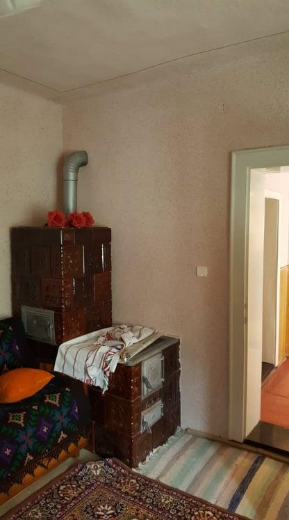 camera cu soba va fi bucataria