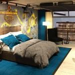 camera din interiorul hotelului dedicat berii TheDogHouse