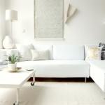 canapea alba living modern