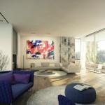 canapea albastru electric culoarea anului 2014 living modern