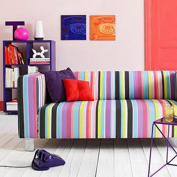 canapea colorata living modern