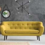 canapea galben mustar magazin Bonami model 2019