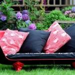 canapea handmade din cada fonta veche