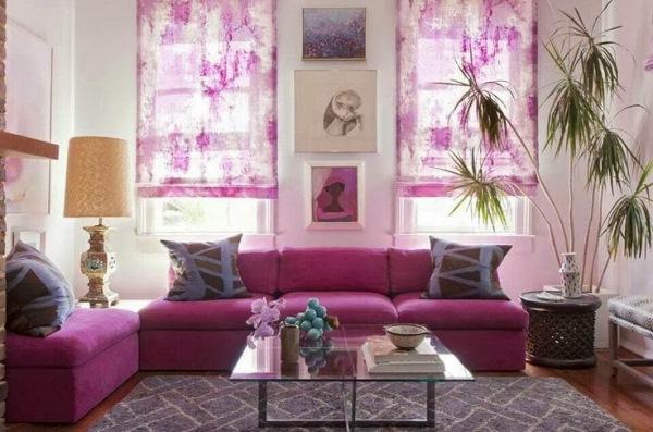 canapea roz purpuriu culoarea anului 2014 living