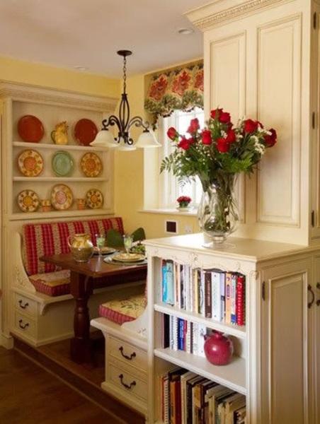 canapele sau banchete de bucatarie cu spatii de depozitare in laterale