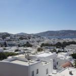 capitala insulei Mykonos vazuta de sus