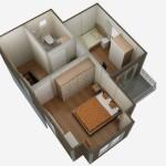 casa 1 plan etaj 3d