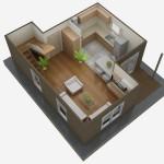 casa 1 plan parter 3d