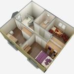 casa 2 plan 3d etaj