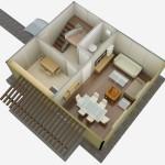 casa 2 plan 3d parter