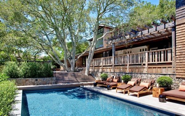 casa cu piscina california