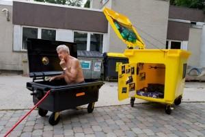 Case din tomberoane de gunoi, concepute de un designer din Germania