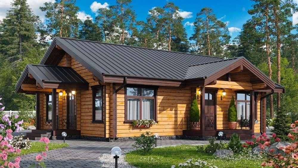 casa mica parter din lemn