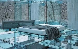 casa moderna mobilier sticla