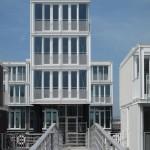 casa modulara prefabricata cartier plutitor jetty island amsterdam