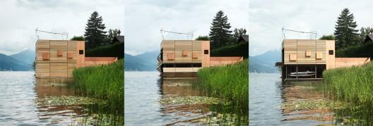 casa pe lac