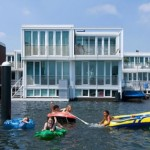 case modulare plutitoare cartier jetty island amsterdam
