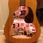 casuta de papusi handmade din chitara veche