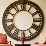 ceas vintage supradimensionat din fier forjat decor perete