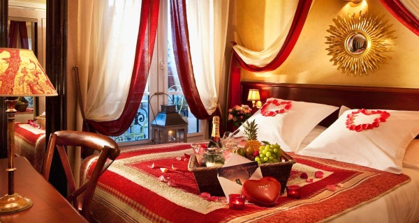 cina romantica dormitor