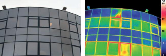 cladire sticla imagine termografie