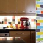 combinatii de faianta colorata pentru perete blat lucru bucatarie
