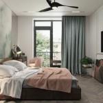 combinatii roz pudrat si gri tenta verde amenajare dormitor