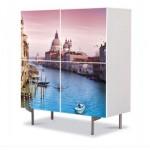 comoda cu 4 usi Art Work peisaj cu Venetia
