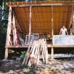 constructie cabana lemn de 500 usd cu fatada din sticla