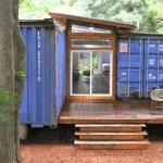 copertina lemn legatura intre doua containere pentru casa
