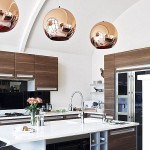 corpuri iluminat suspendate bucatarie moderna din cupru