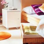 cos impletit pentru pastrarea obiectelor sub patul din dormitor