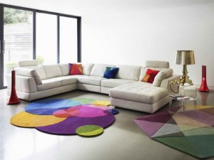 covoare colorate forma neregulata decor living modern