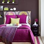 covor dormitor si lenjerie pat accente roz purpuriu orhidee radianta culoarea anului 2014