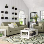covor imprimeu geometric decor living modern