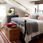 covoras cuvertura pat si pernute decorative imprimeu dungi dormitor frumos decorat