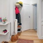 cuier haine hol mic apartament amenajat stil scandinav