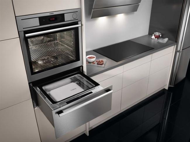 cuptor electric incorporabil cu sertar pentru tavi