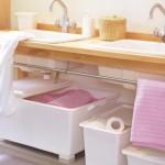 cutii depozitare obiecte igiena personala sub lavoar baie