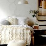 cuvertura pat si fete de perna decorative crosetate manual
