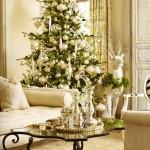 decor alb pentru craciun interior elegant de lux