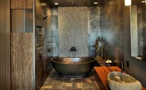 decor asiatic baie moderna 2015 cada si lavoar din piatra naturala