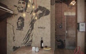 decor che guevara apartament masculin loft vintage