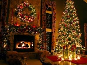 decor craciun living brad luminite si decoratiuni