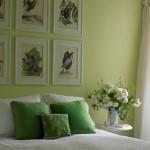 decor dormitor vernil si alb