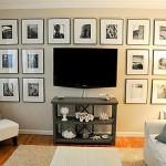 decor galerie foto familie perete living in jurul televizorului