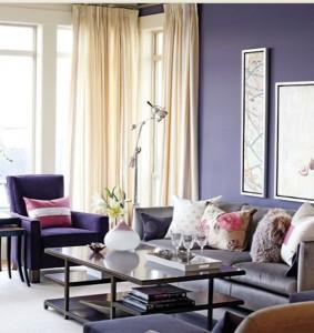 decor living clasic amenajat in lila